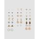 FULL TILT 20 Pairs Moon & Arrow Stud Earrings