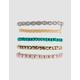 FULL TILT 5 Pack Rose Bead & Braid Bracelet