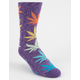 HUF Melange Plantlife Purple Combo Mens Socks