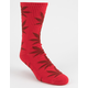 HUF Plantlife Red Mens Socks