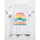 WHITE FAWN California Scenic Girls Tee