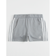 ADIDAS 3 Stripes Grey Girls Sweat Shorts