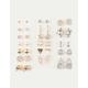 FULL TILT 20 Pairs Elephant & Flower Stud Earrings