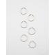 FULL TILT 3 Pairs Tubular Trio Hoop Earrings