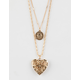 FULL TILT Sun & Heart Layer Necklace