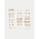 FULL TILT 20 Pairs Pine & Love Heart Earrings