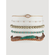 FULL TILT 5 Pack Feather & Braid Bracelets
