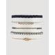 FULL TILT 6 Pack Rose & Beaded Bracelets