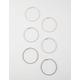 FULL TILT 3 Pairs Etched Hoop Earrings