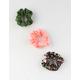 FULL TILT 3 Pack Flower Scrunchies