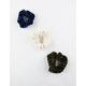 FULL TILT 3 Pack Soft Corduroy Scrunchies