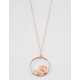 FULL TILT Rose Circle Necklace