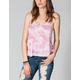 FULL TILT Tie Dye Womens Bar Back Tank
