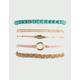 FULL TILT 5 Pack Feather & Braid Bracelets