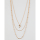 FULL TILT 3 Layer Moon Necklace
