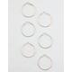 FULL TILT 3 Pairs Twist Hoop Earrings