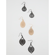 FULL TILT 3 Pairs Katie Gold Earrings