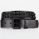 Faux Leather Matte Pyramid Stud Boys Belt