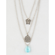 FULL TILT 3 Pack Butterfly & Crystal Necklaces