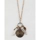 FULL TILT Howlite & Feather Long Necklace