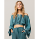 PATRONS OF PEACE Bohemian Off The Shoulder Womens Crop Top