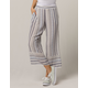 FULL TILT Stripe Wide Leg Womens Crop Pants