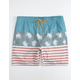 VALOR Palmy Americana Mens Swim Trunks