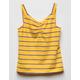 WHITE FAWN Stripe Cinch Yellow Girls Tank Top