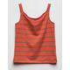 WHITE FAWN Stripe Cinch Orange Girls Tank Top