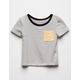 FULL TILT Stripe Pop Girls Pocket Tee