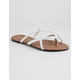CHARLES ALBERT Criss Cross White Womens Sandals