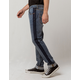RSQ Seattle Side Contrast Mens Skinny Taper Jeans