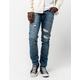 RSQ Seattle Rip N Repair Vintage Medium Mens Skinny Tapered Jeans