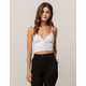 BOZZOLO Ribbed White Womens Crop Cami