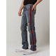 RSQ London Side Stripe Mens Ripped Skinny Stretch Jeans