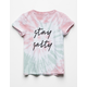 WHITE FAWN Stay Salty Girls Tee
