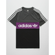 ADIDAS Throwback Black & Purple Mens T-Shirt