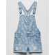 TRACTR Star Print Ripped Denim Girls Shortalls