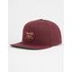 BRIXTON Wheeler Maroon Mens Snapback Hat