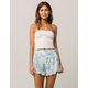 SKY AND SPARROW Ruffle Tie Dye Womens Shorts