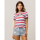 VANS Off The Wall Womens Ringer Tee