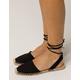 SODA Ankle Wrap Espadrille Black Womens Sandals