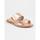 SODA Double Strap Gold Womens Sandals