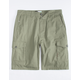 LRG RC Ripstop Olive Mens Cargo Shorts