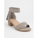CITY CLASSIFIED Block Grey Womens Heeled Sandals