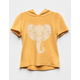 SKY AND SPARROW Elephant Mustard Girls Hoodie