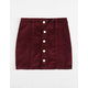 CELEBRITY PINK Button Front Corduroy Girls Skirt