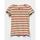 FULL TILT Stripe Lettuce Edge Girls Baby Tee