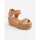 SODA Ayla Platform Tan Womens Sandals