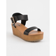 SODA Ayla Platform Black Womens Sandals